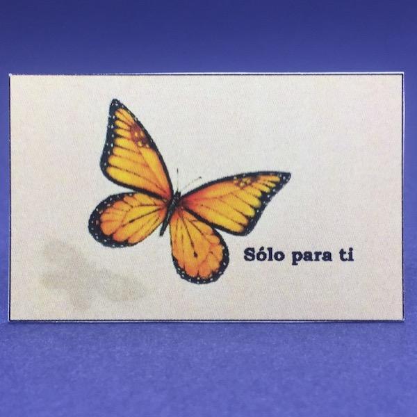 Etiqueta mariposa