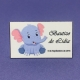 Etiqueta Elefante niña med 4,8cm x 3cm