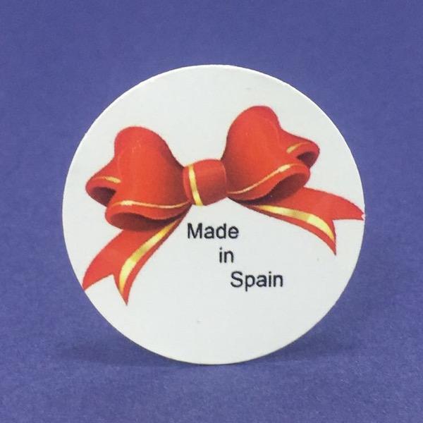 Etiqueta Made in med 4cm diámetro