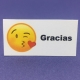 Etiqueta Emoji Beso med 4,7cm x 2,6cm