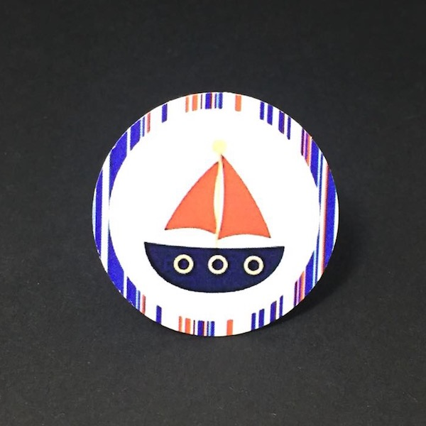 Etiqueta barco boy 4cm / Boy Boat Label 4 mod. 25