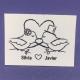 Etiqueta Pájaros beso med 4,7cm x 3cm