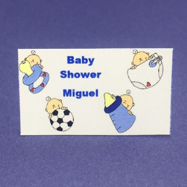 Etiqueta Baby Shower mod 4 med 2,8cm x 4,7cm