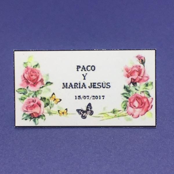 Etiqueta Flores med 5,5cm x 3cm