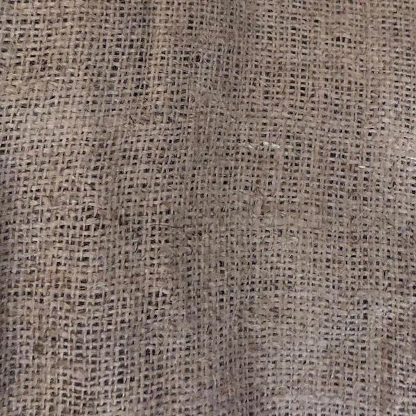 Tela de arpillera o yute 10 onzas / Jute cloth med. 1m