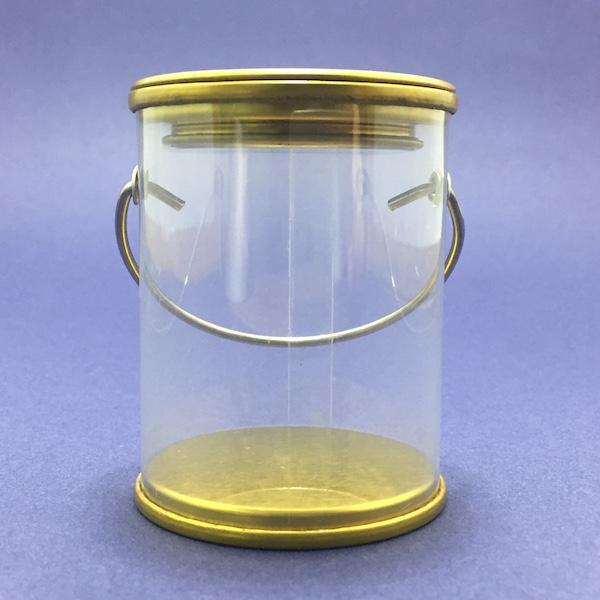 Bote con tapa dorada Medidas: 6cm x 8cm 1