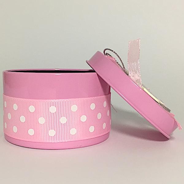Caja carrito en colores azul y rosa