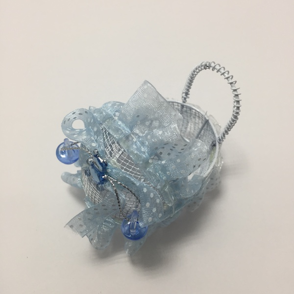Carrito de encaje azul