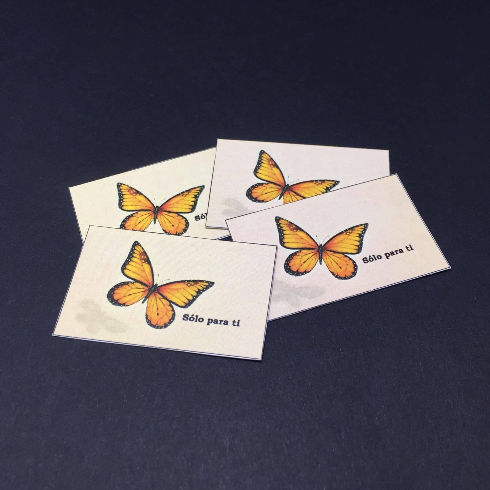 Etiqueta Mariposa med 4,7cm x 3cm