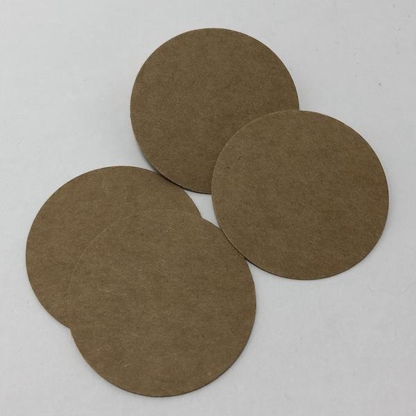 Etiquetas kraft 4cm. Etiquetas para decorar en bodas y celebraciones