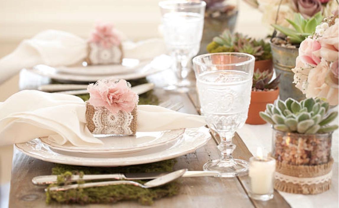 Decoración de bodas y comuniones con cactus y suculentas. Bodas y celebraciones